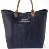 Waxed Cotton tote bag w/ leather
