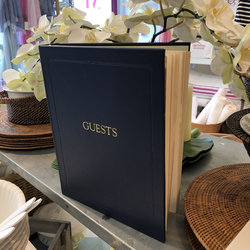 Leather Guests book