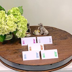 Set of 12 fold over placecards