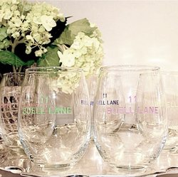 Stemless Wine Glass w/Monogram