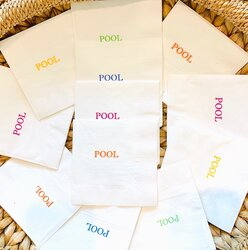 Pool paper cocktail napkins
