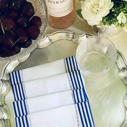 Navy white cocktail squares